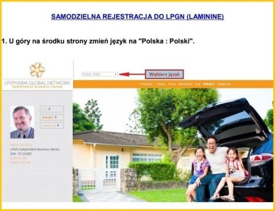 jak zarejestrować się do lpgn (Lamininy) krok 1 - laminina-opinie